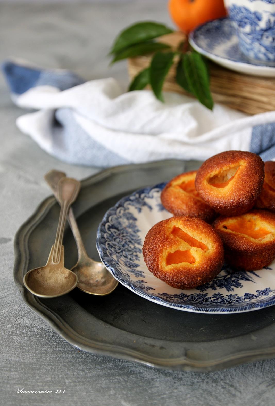 mini-muffins alle albicocche e farina di mais