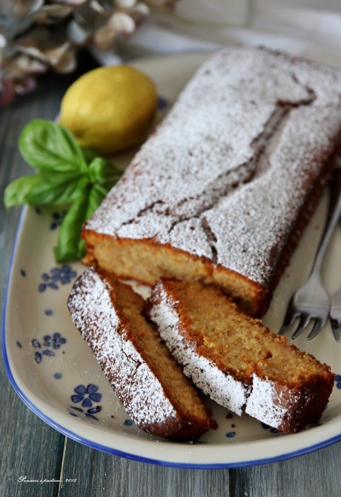 cake al limone e sciroppo al basilico