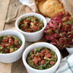 Sformatini alle bietole e pancetta croccante