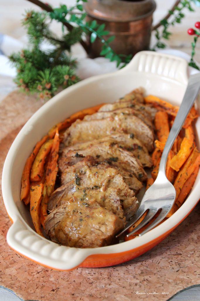 arrosto di vitello alla salvia e cannella con salsa cremosa
