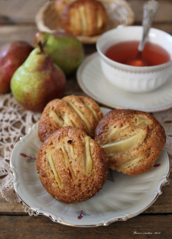 muffins al farro con yogurt pere e spezie