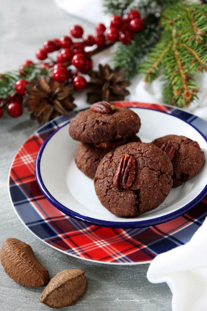 biscotti croccanti al cacao e noci pecan