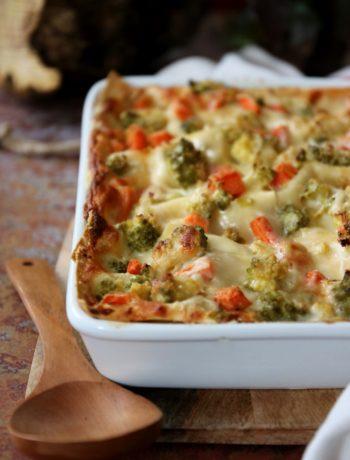 lasagne bianche con verdure invernali