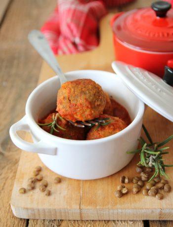 polpettine di lenticchie al pomodoro