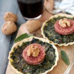 Tartellette agli spinaci e cotechino