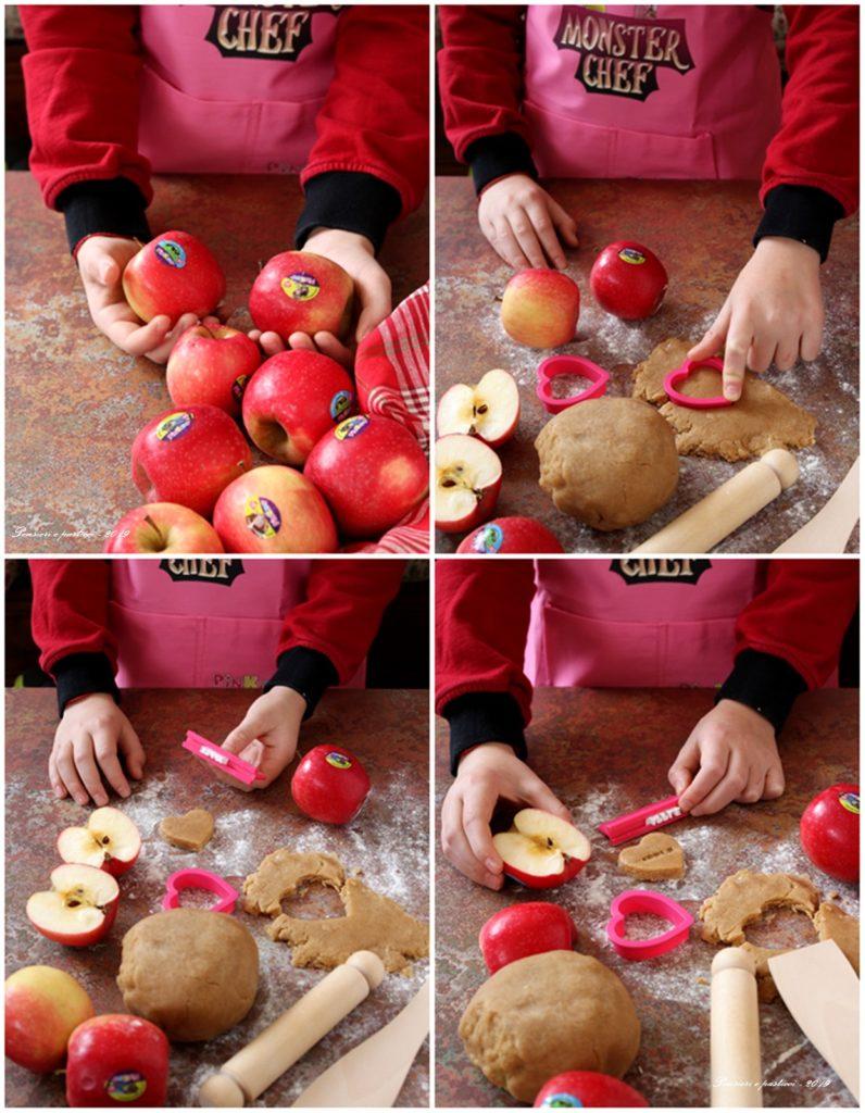 preparazione crostatine alle mele Pink Kids