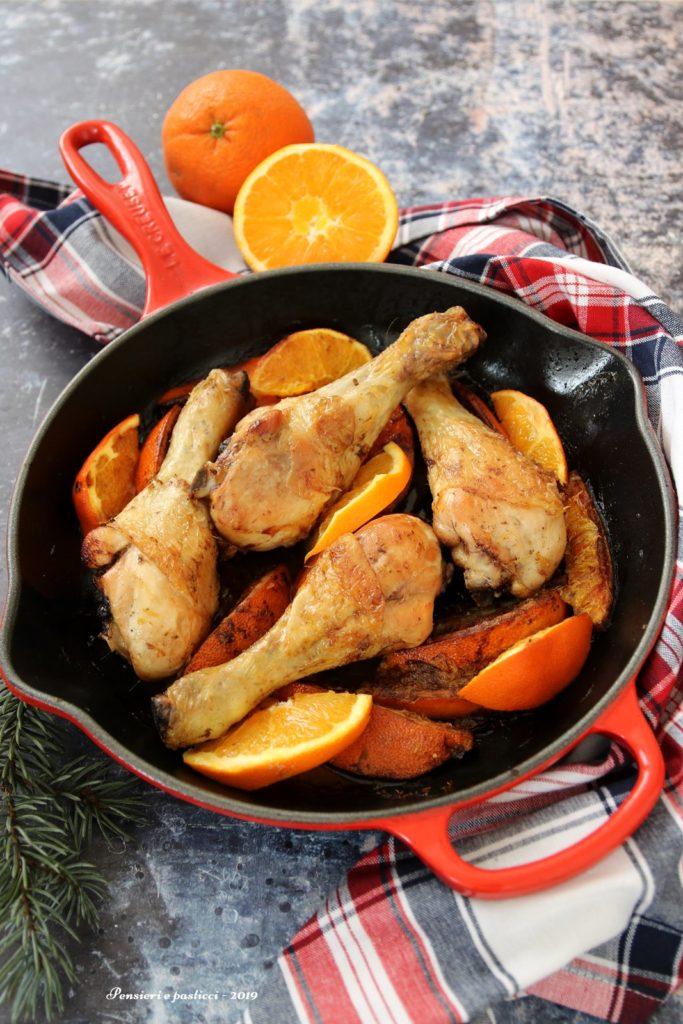 fusi di pollo alle arance e balsamico