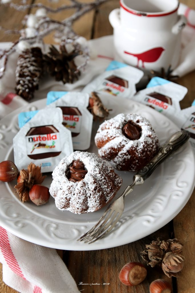 mini bundt alla nutella