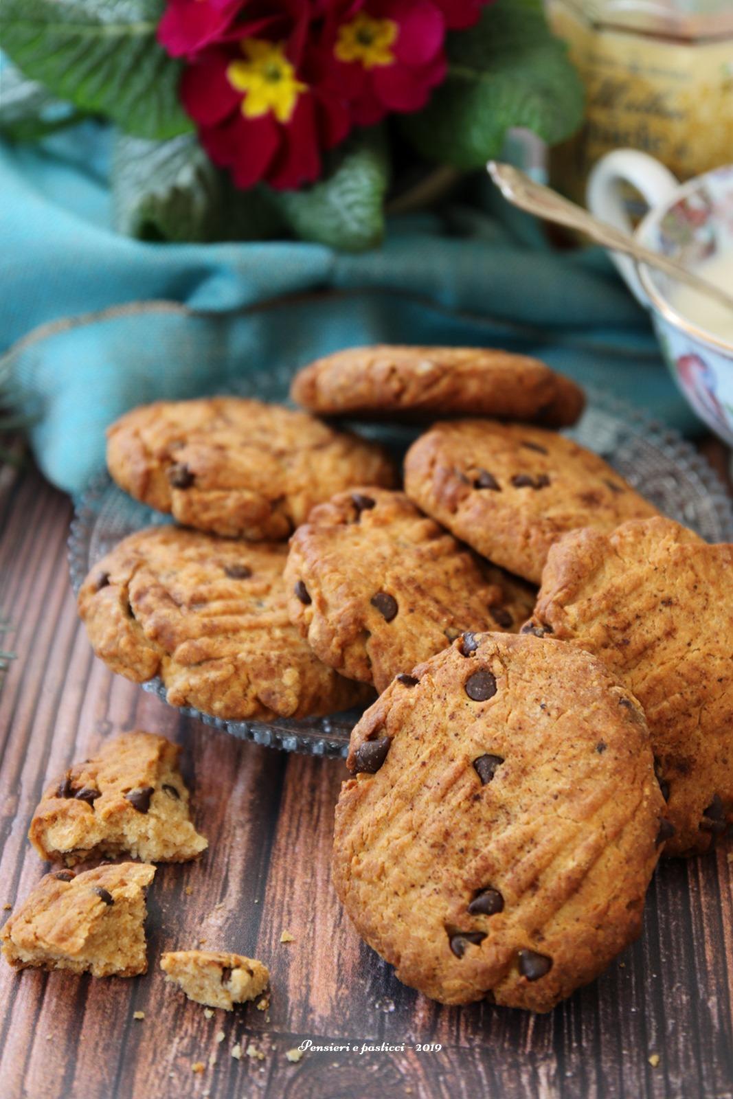 cookies al farro, miele e cioccolato