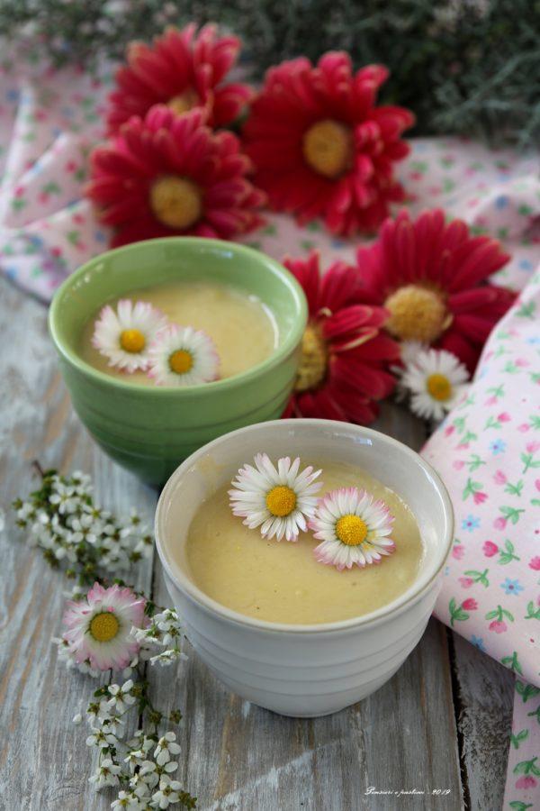 crema dessert al tè bancha fiorito