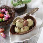 Gelato al pistacchio di Bronte nell'Uovo di Pasqua