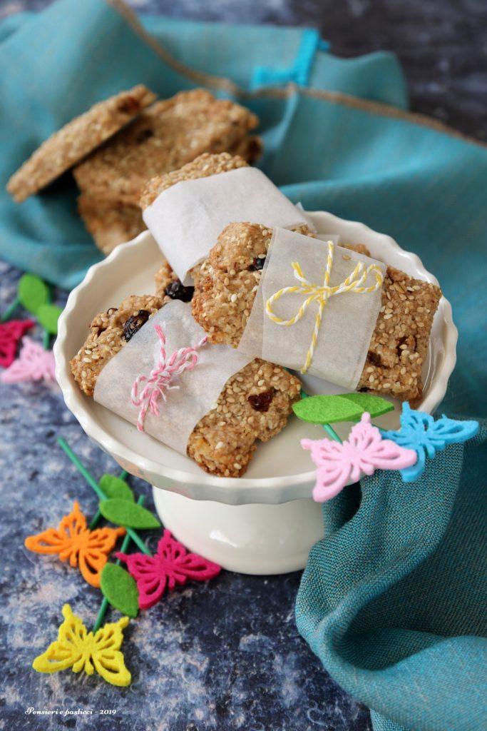 barrette al sesamo e cereali fatte in casa