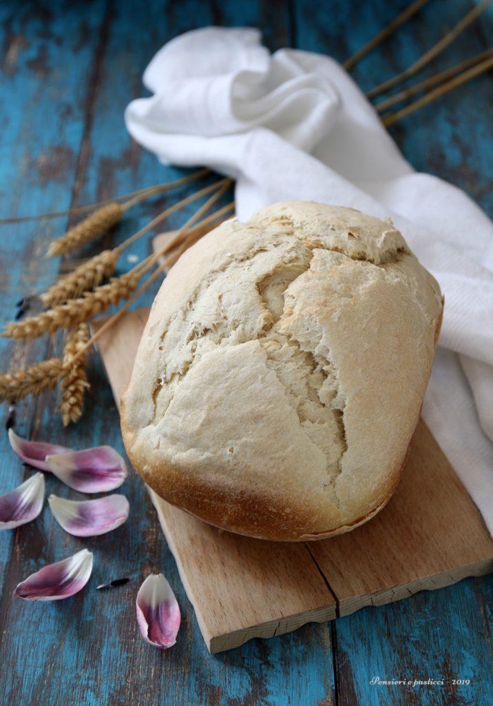 pane bianco con macchina del pane