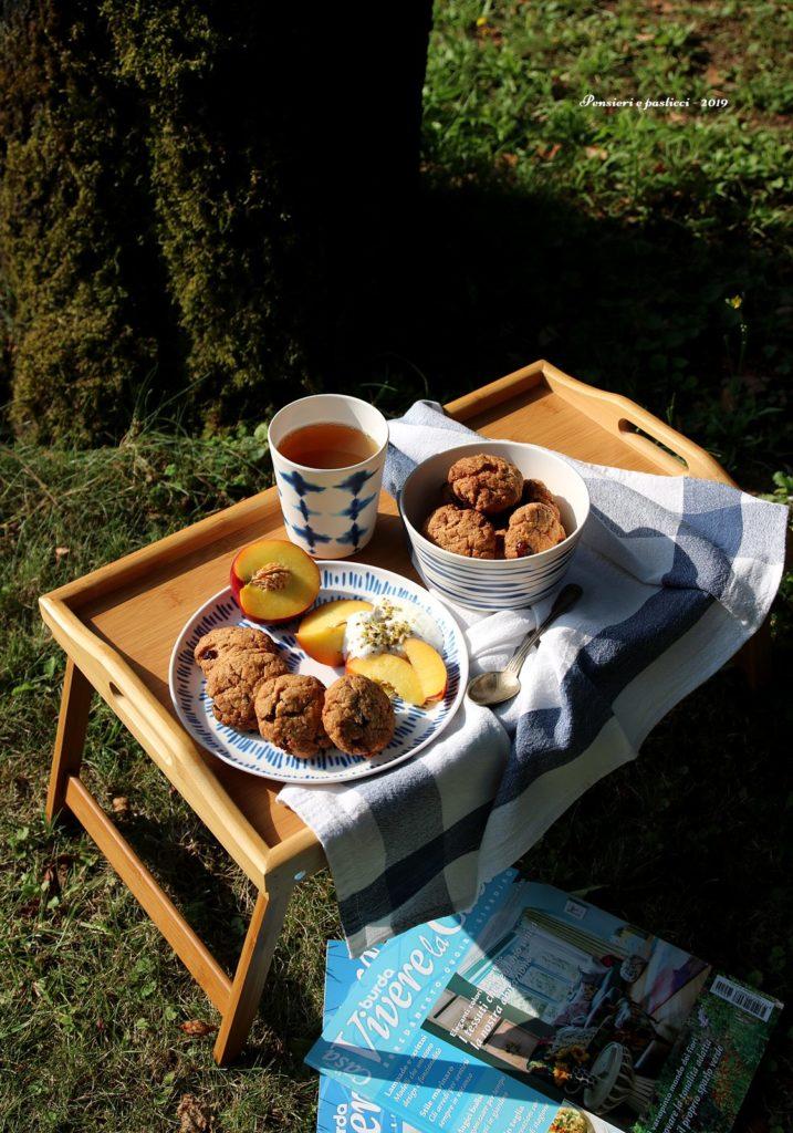 biscotti integrali al cocco e cranberries