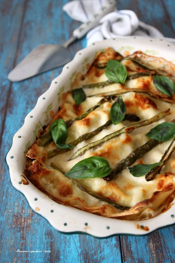 lasagne di primavera agli asparagi