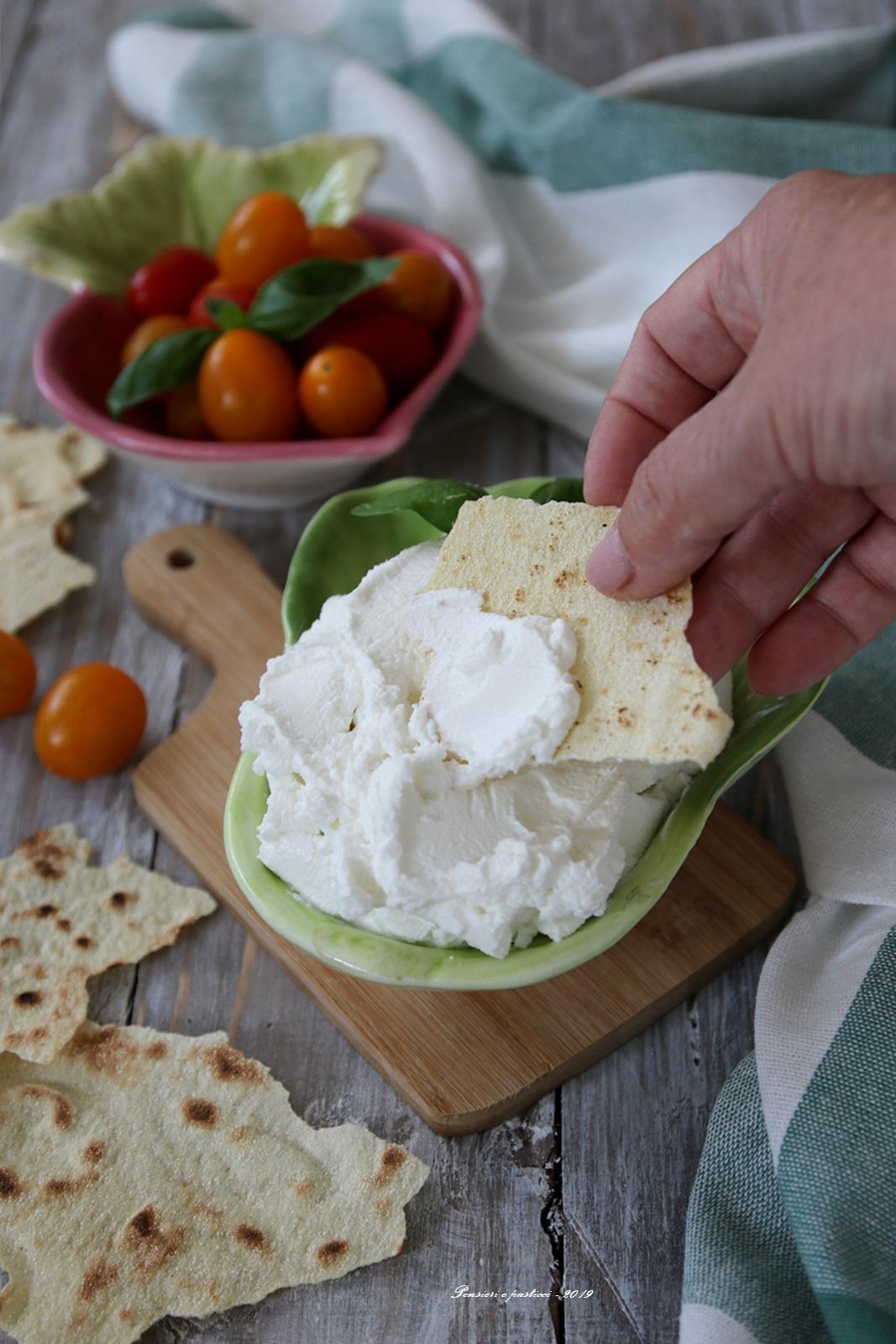 labneh formaggio cremoso magro fatto in casa