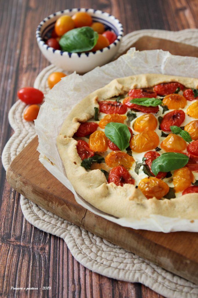 galette salata ai sette cereali e pomodorini