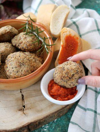 polpettine di quinoa e ceci senza uova