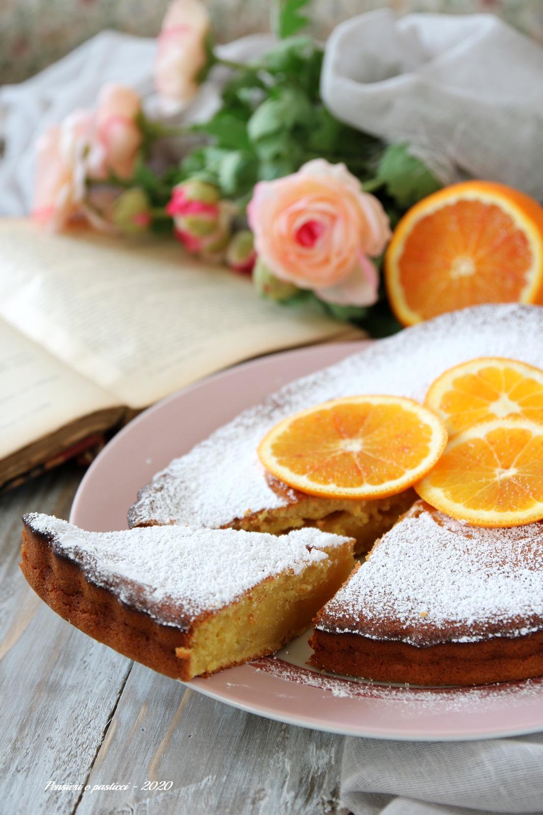 torta alle arance e cioccolato bianco
