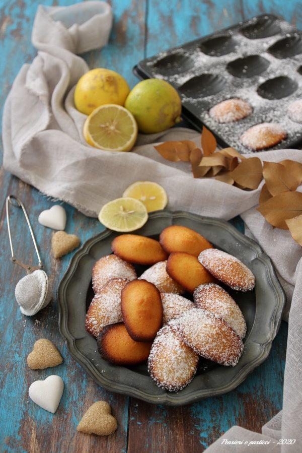 madeleines al bergamotto