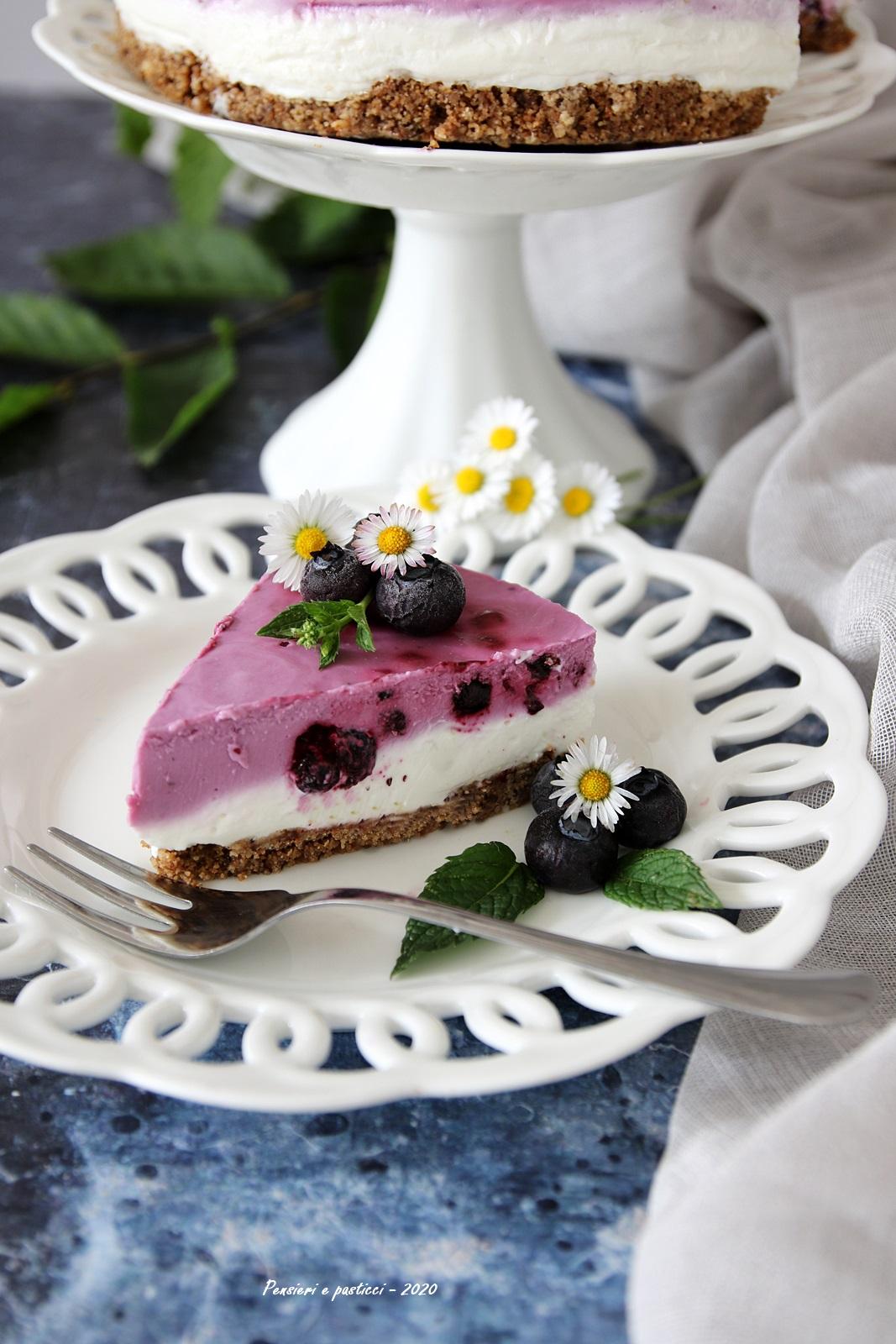 cheesecake ai mirtilli senza cottura