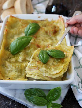 lasagne al pesto e mozzarella
