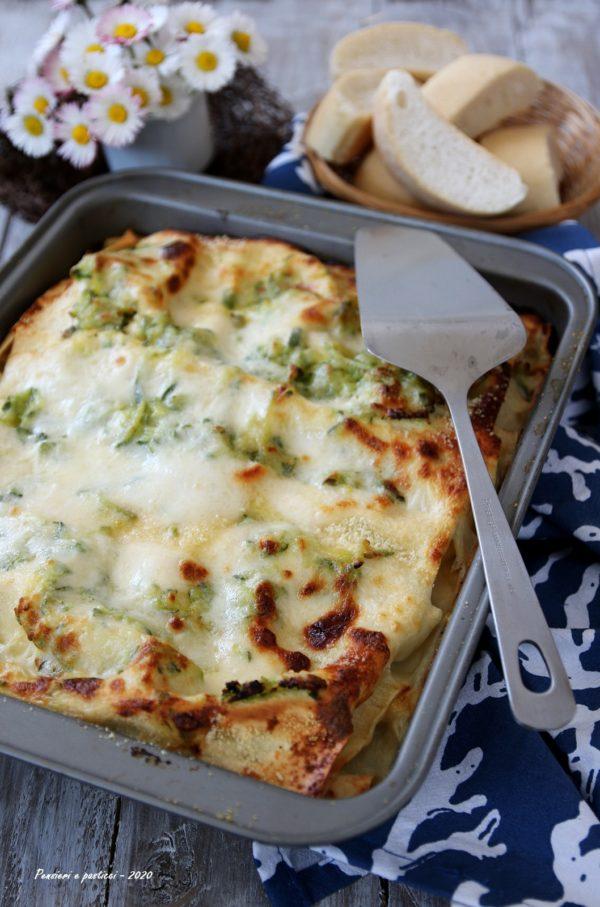 lasagne alle zucchine praga e mozzarella