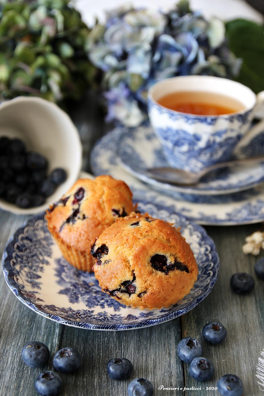 muffins ai mirtilli profumati alla vaniglia