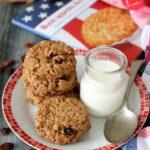Oatmeal raisin cookies, biscotti all'avena e uvetta ricetta del Massachusetts