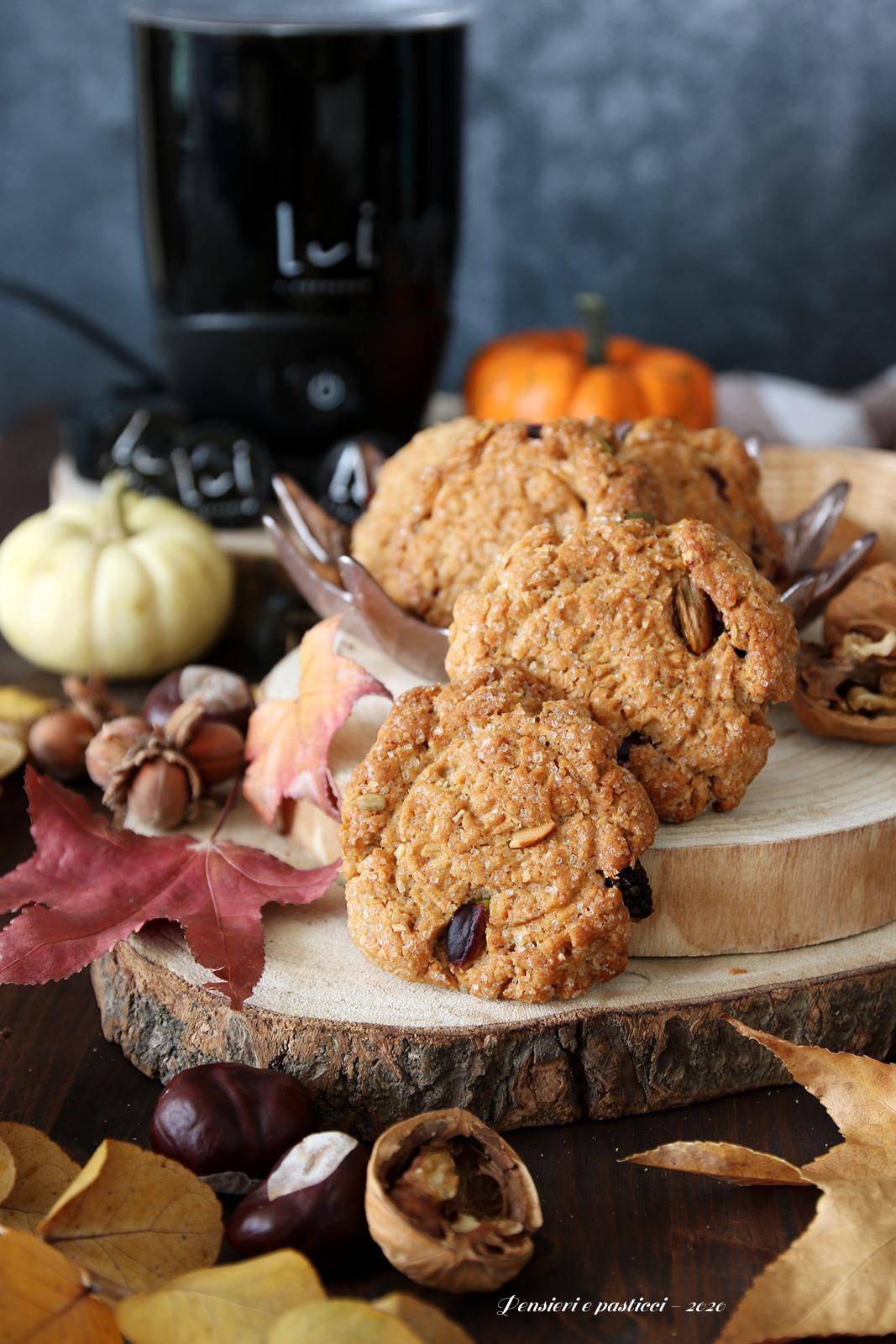 cookies alla frutta secca cocco e cranberries