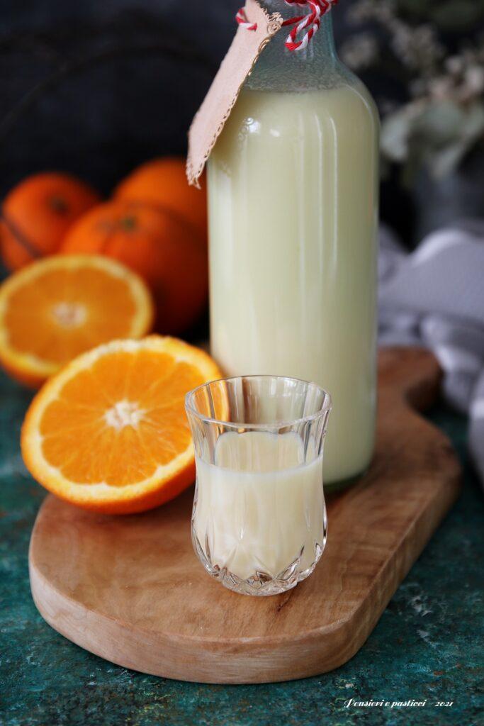 Liquore cremoso all'arancia