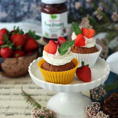 cupcakes alle fragole per la festa della mamma