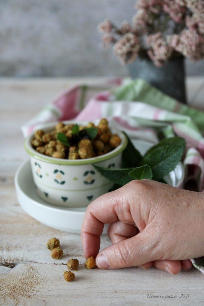 ceci croccanti al curry e menta