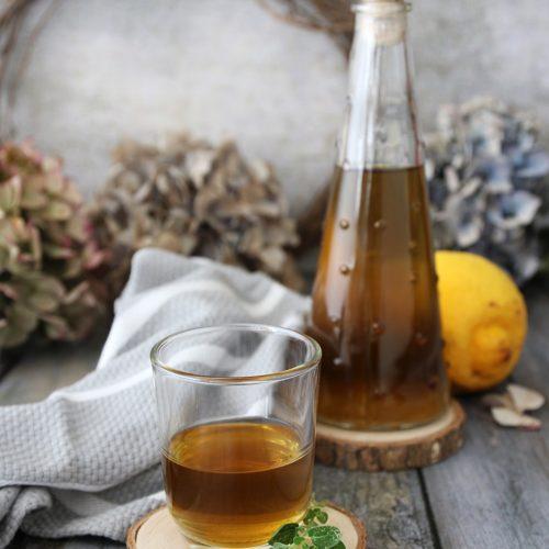 liquore alla maggiorana e limone