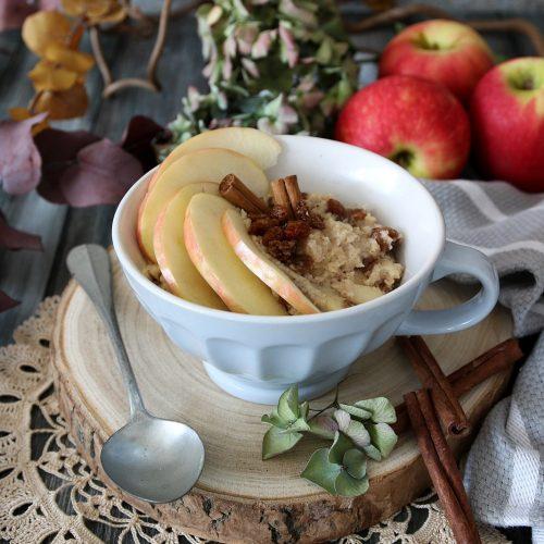 porridge alle mele rosse